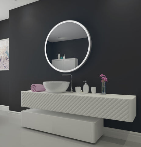 Dimmable Lighted Bathroom mirror round  Galaxy 40 X 40
