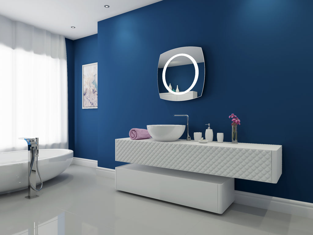 Dimmable Lighted Mirror Halo 28 X 28 Ib Mirror