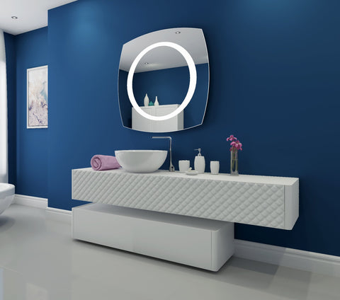 Dimmable Lighted mirror Halo 40 X 40