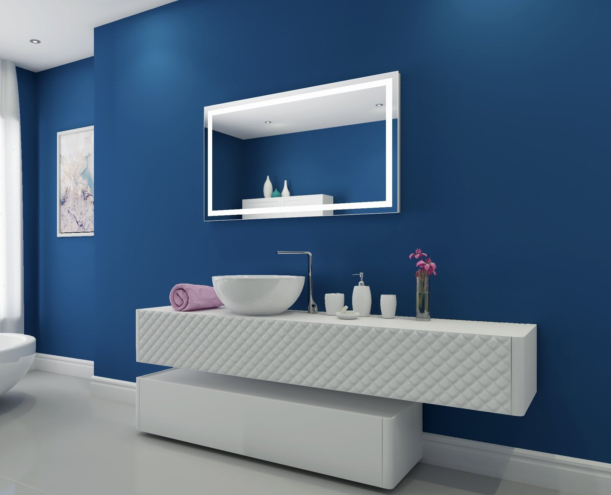 Dimmable Lighted Mirror Harmony 48 X 28
