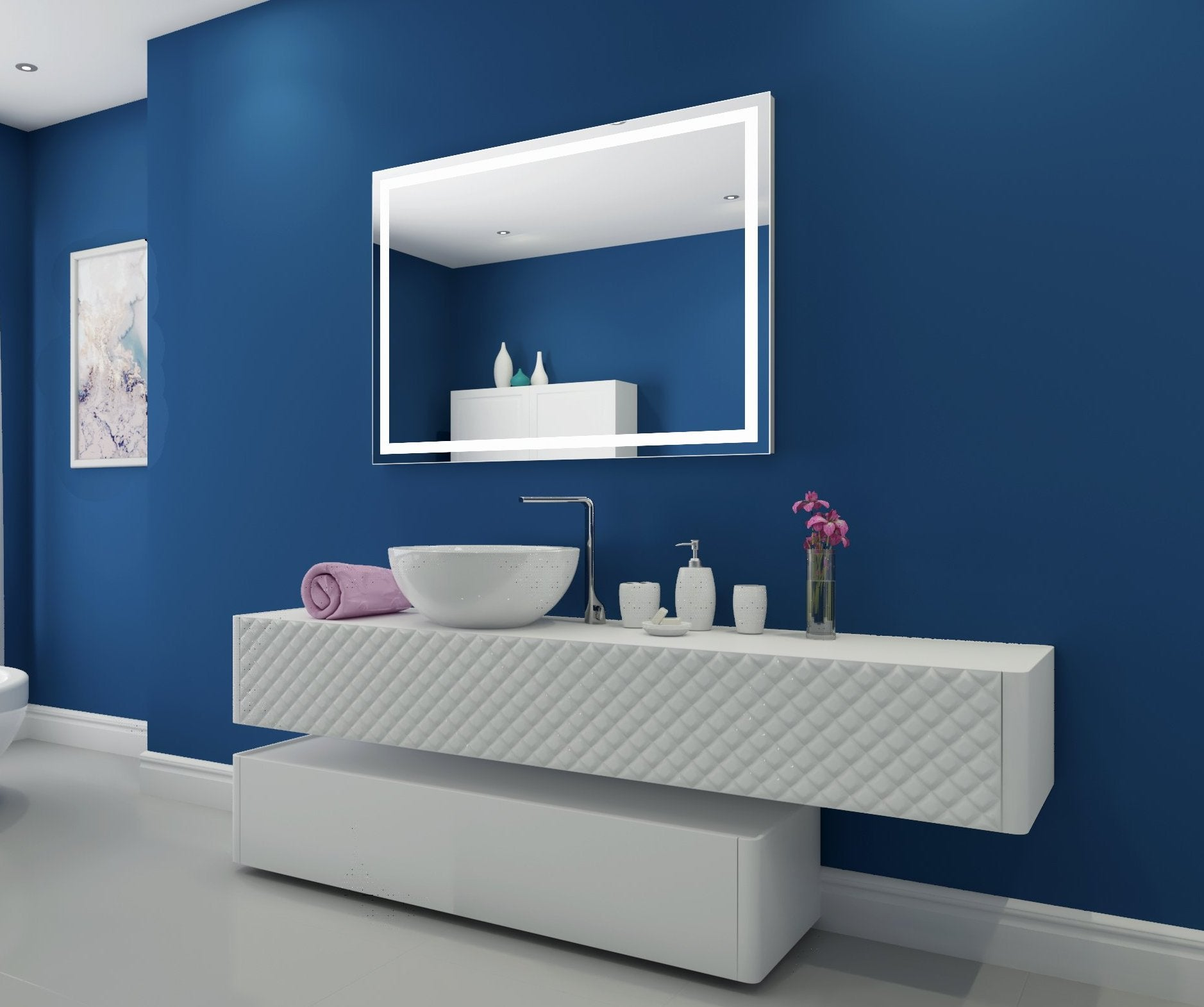 Dimmable Lighted Mirror Harmony 48 X 35 In Ib Mirror