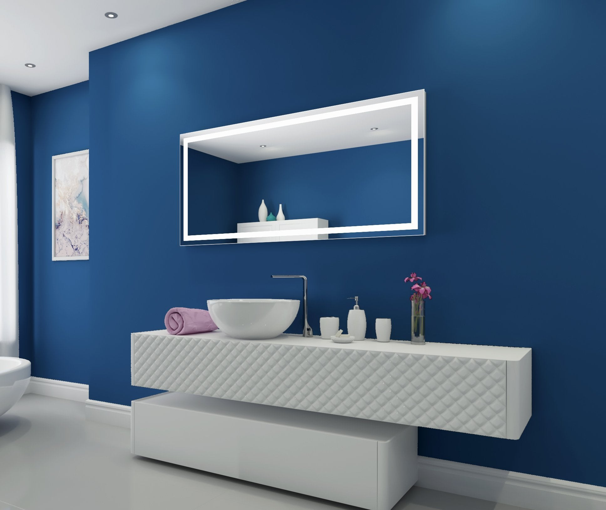 Dimmable Lighted Mirror Harmony 60 X 28