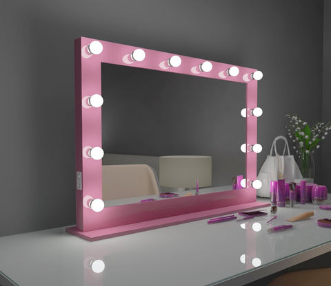 Hollywood Mirror Marilyn pink 40 x 28 with bluetooth