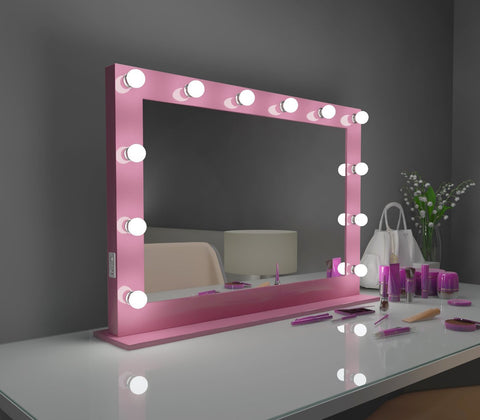 Hollywood Mirror Marilyn pink 40 x 28 in