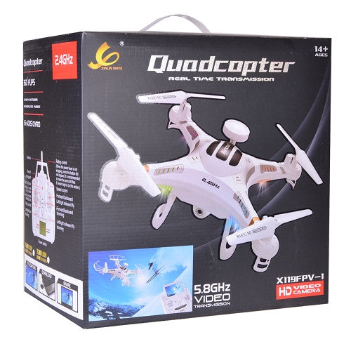 "Fpv Quadcopter Drone (11.5"") W/Hd Camera, Led..."