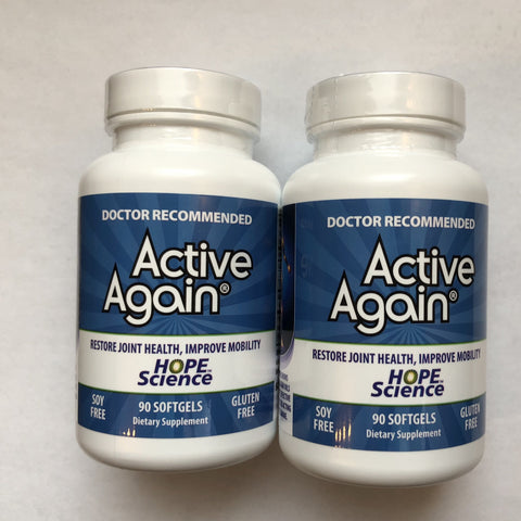 "Active Again (EFAC ®) - ""2-Pack"" Human Grade Joint Support 90 Soft Gels -Save 24%"
