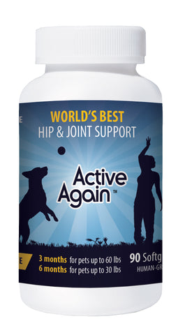 Active Again (EFAC) A1 90 Gels Dog & Cat Joint Support RRP $ 75 Now $ 59.95 Save 20% Click on the bottle for more information.