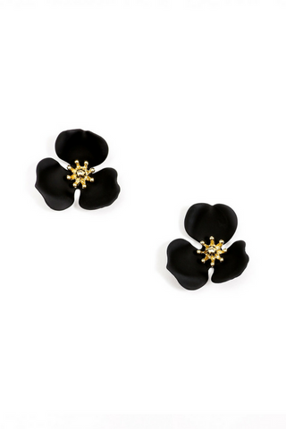 Blooming Lotus Stud Earring