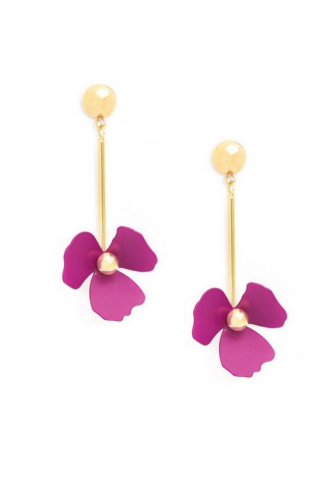 Markle Flower Drop Earring