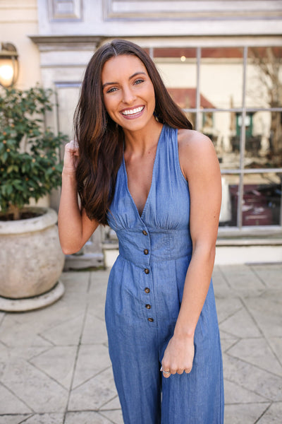 Denim Doll Jumpsuit