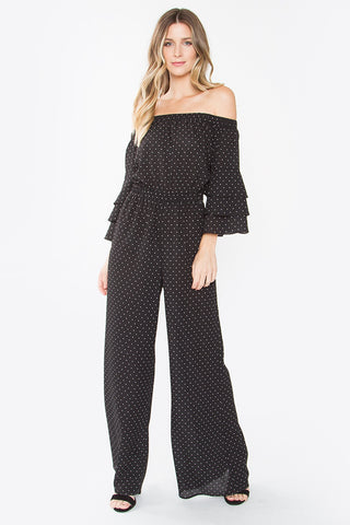 SUGAR + LIPS Charice Off The Shoulder Jumpsuit