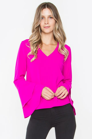 SUGAR + LIPS Elia Ruffle Top