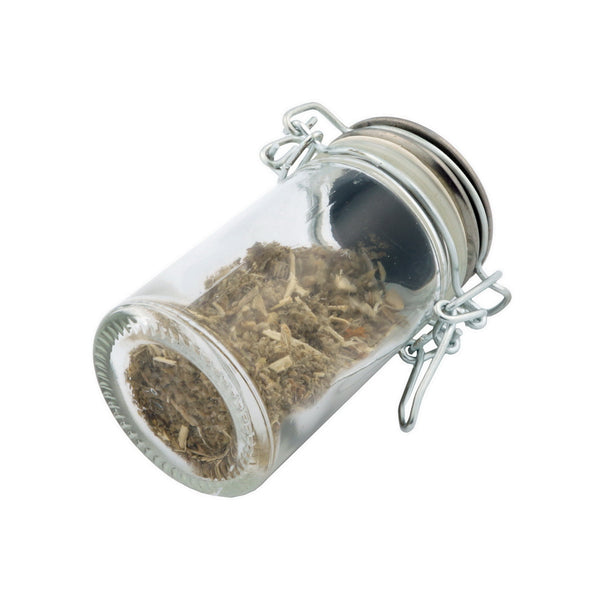 Glass Jar - Native Wolf- 75ml Herb and Spice Storage Container , Glass Jars - Zip Grinders, Zip Grinders  - 2