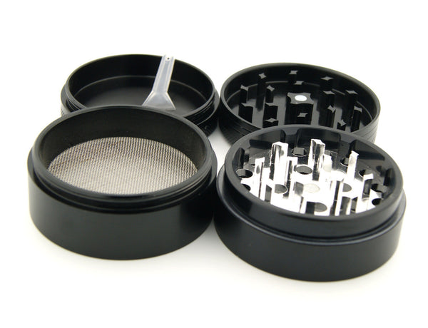"Native Fox - 2.25"" Premium Black Herb Grinder - Custom Designed , Grinders - Zip Grinders, Zip Grinders  - 3"