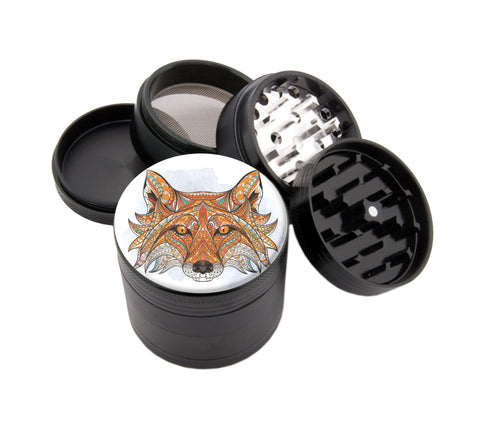 "Native Fox - 2.25"" Premium Black Herb Grinder - Custom Designed , Grinders - Zip Grinders, Zip Grinders  - 1"