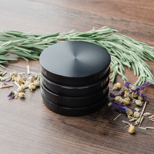 "Large Pagoda Tower Herb Grinder - 2.5""  (Black)"