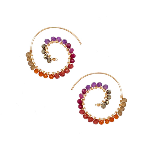 passion collection fiddlehead fern earring