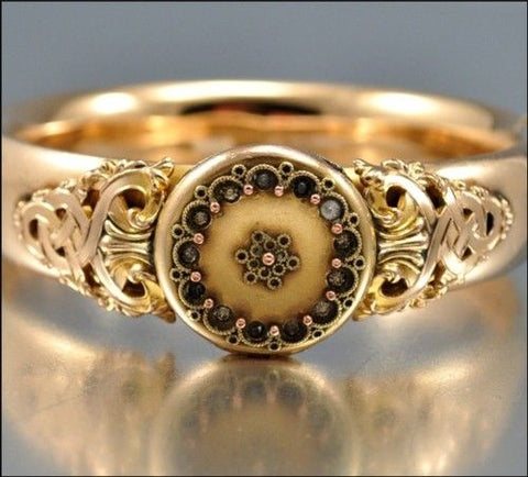 victorian era gold filled ring