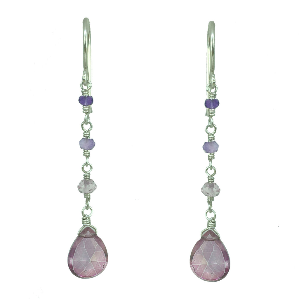 Pink Mystic Drop Earring