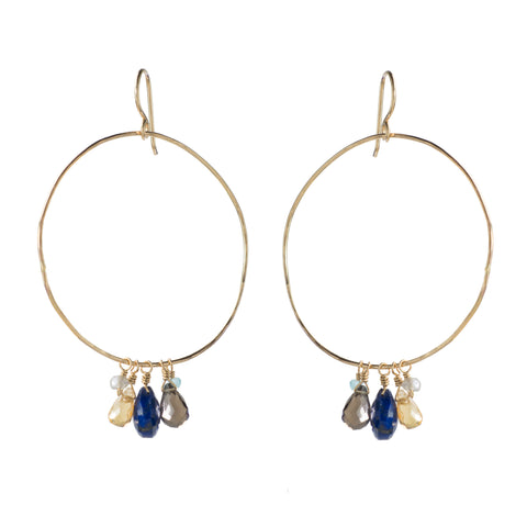 Delicate Statement Hoop Earring