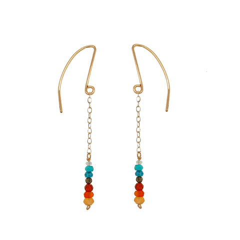 Stacked Desert Gemstones Earring