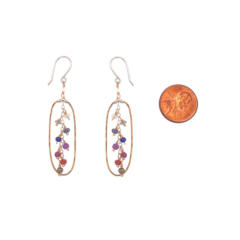 Sunset Ombre Oval Earring