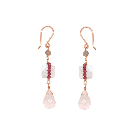 Reticulated Champagne Earring