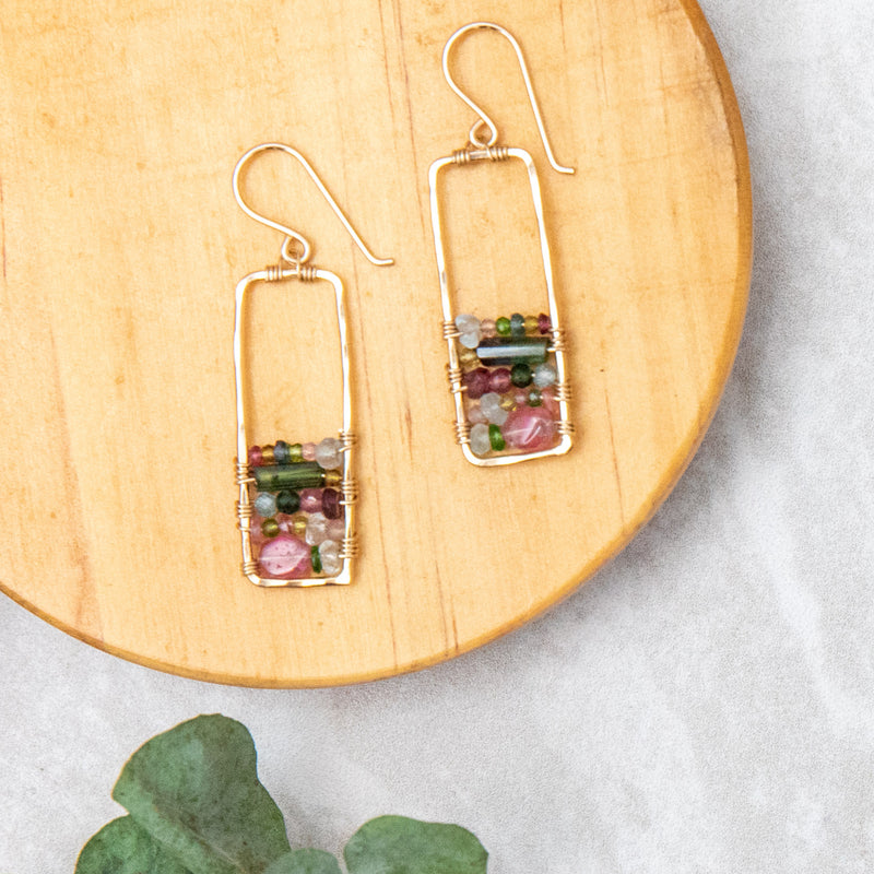 Stained Glass Window Earring