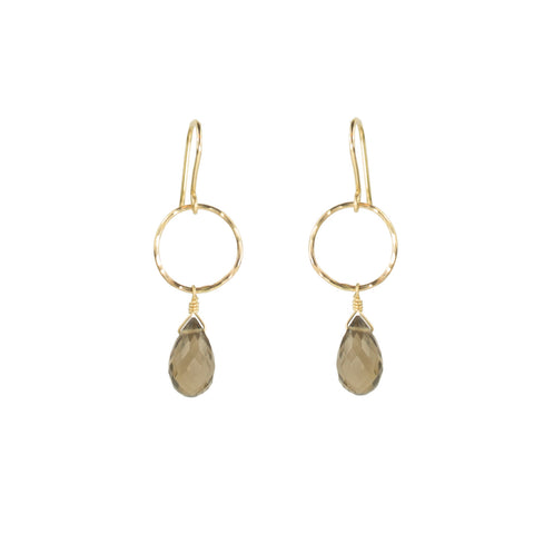 Minimalist Smoky Quartz Earring