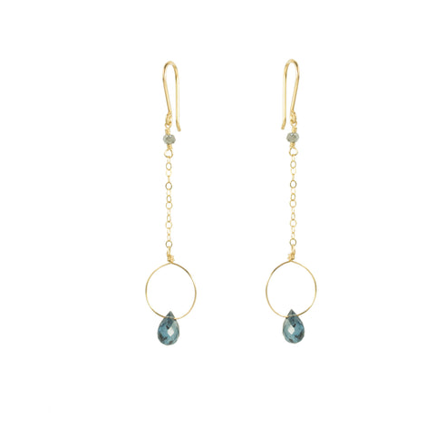 Dainty Kyanite Drop Earring