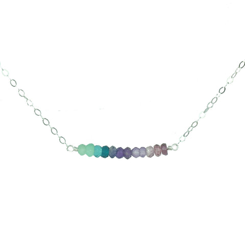 Unicorn Ombre Gembar Necklace