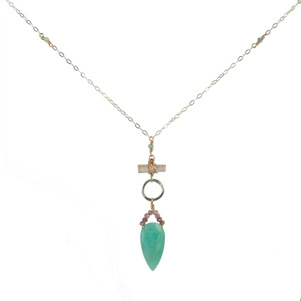 Amazonite Shield Necklace