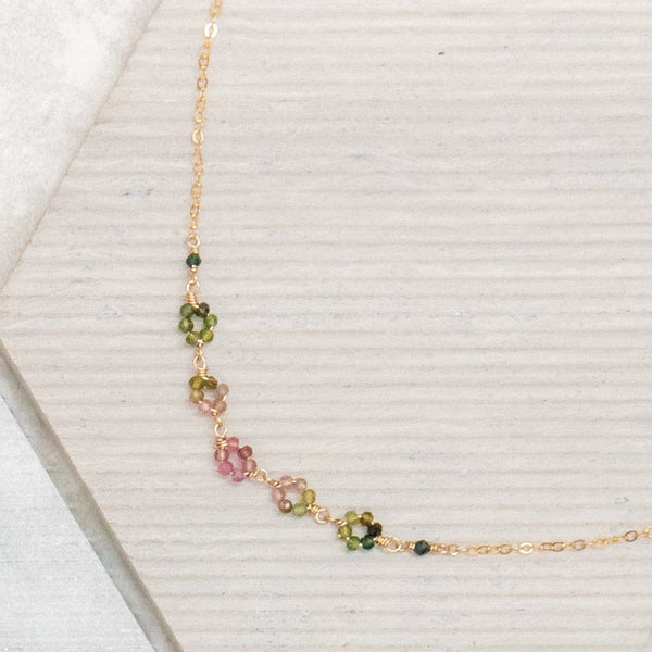 Tourmaline Fleurettes Necklace