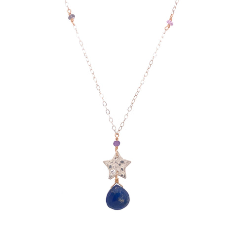 Star and Lapis Necklace