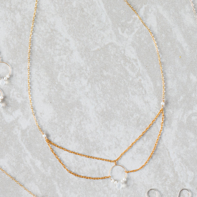 Rope Chain Draped Necklace