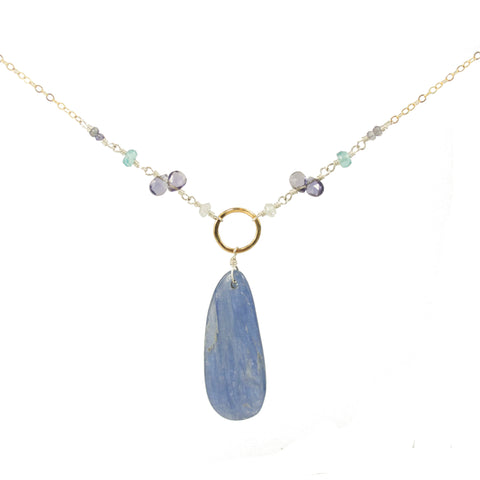 Cobalt Kyanite Pendant Necklace