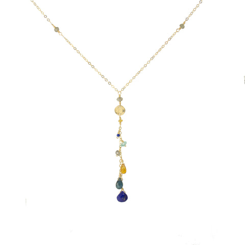 "Royal Gemstone Drops ""Y"" Necklace"