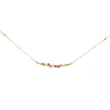 Gemstone Encrusted Bar Necklace