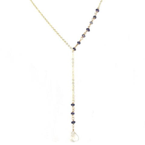 "Exquisite Moonstone ""Y"" Necklace"