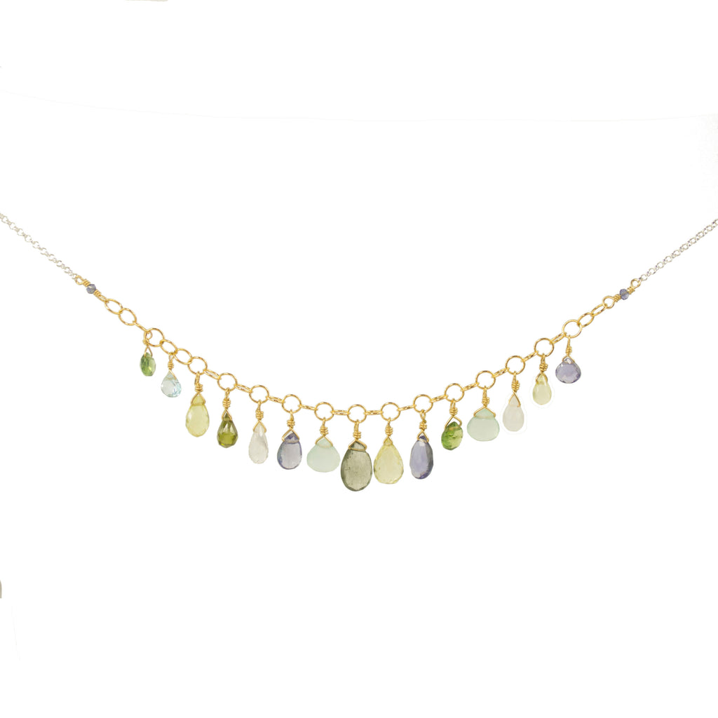 Gemstone Droplet Necklace