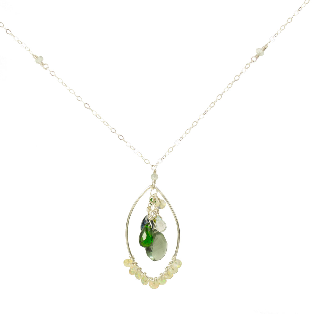 Elegant Opal Wrap Necklace