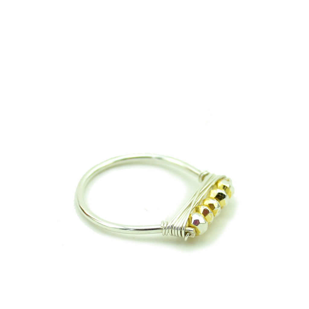 Gold Pyrite Stacking Ring