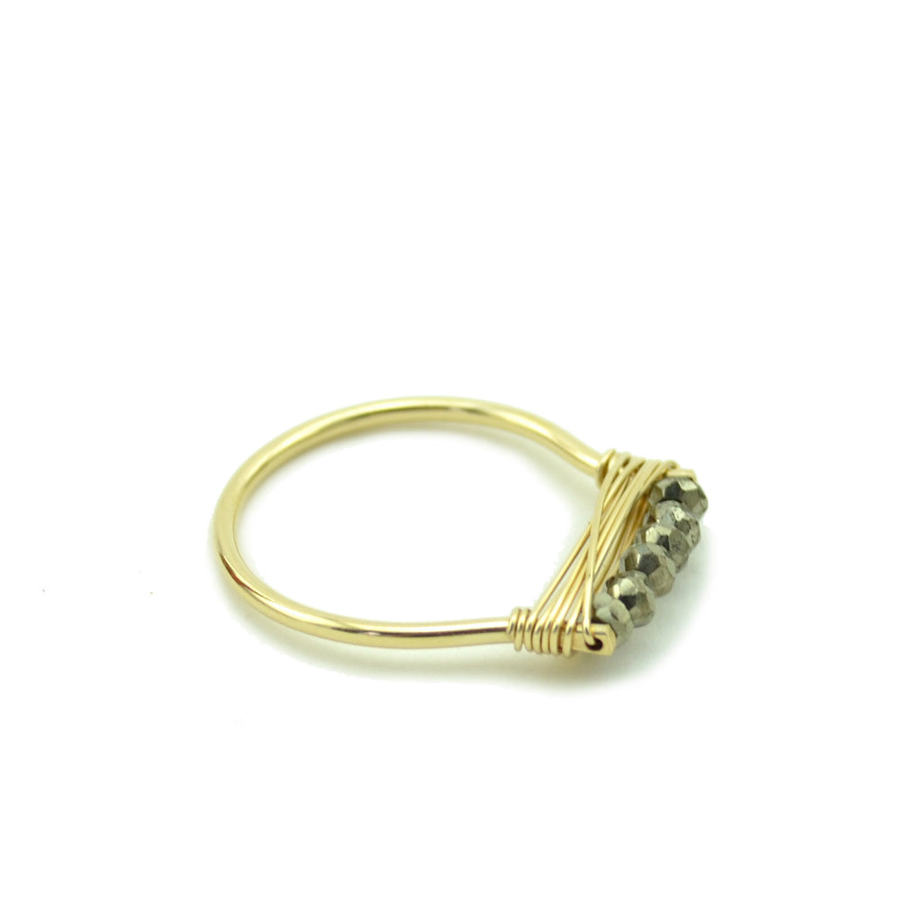 Pyrite Stacking Ring