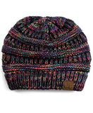 Slouchy Knit CC Beanie - Multi Color