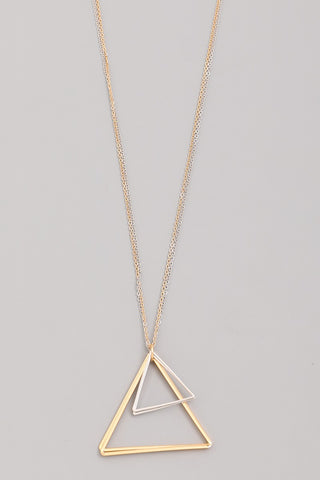 Triangle Wire Pendant Necklace