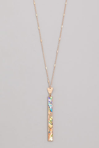 Vertical Bar Drop Necklace
