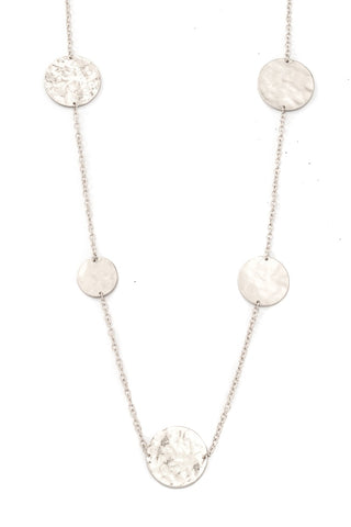 Multi Warped Coin Necklace