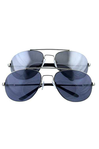 Smoke & Mirror Aviator Shades
