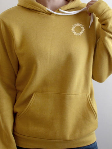 Yellow Simple Sun Hoodie - Unisex
