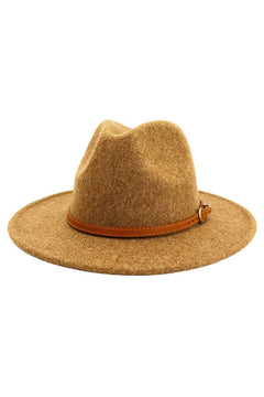 Brown Belt Panama Hat - Dark Khaki